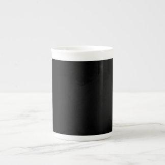 Taza negra de la porcelana de hueso taza de porcelana