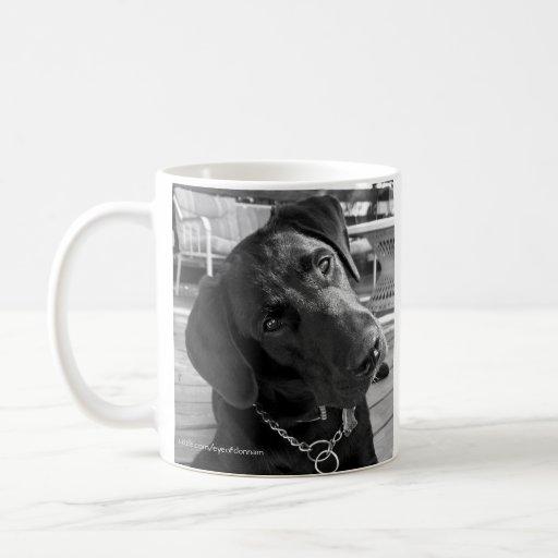 Taza negra de Labrador