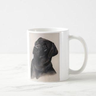 """Taza negra de Labrador con """"el texto del mejor"""