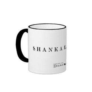 Taza negra del borde de Shankalicious