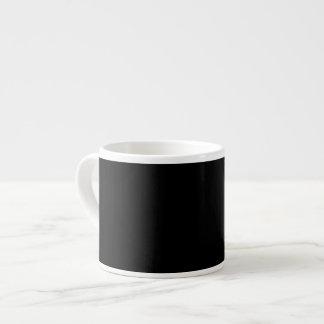 Taza negra del café express taza espresso