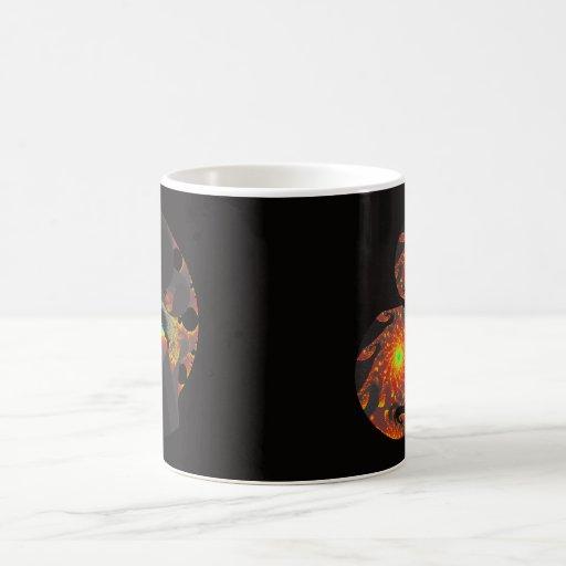 Taza negra del fractal