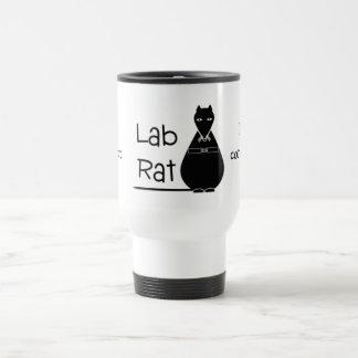 Taza negra del viaje de la rata del laboratorio