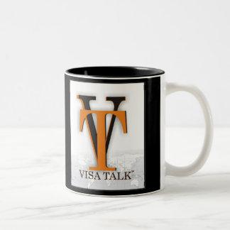 taza negra del visatalk - modificada para requisit