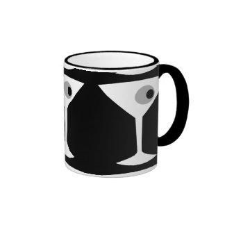 Taza Noir del vidrio de Martini de la película