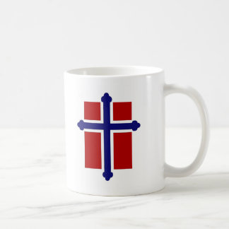 Taza noruega de la cruz/de la bandera