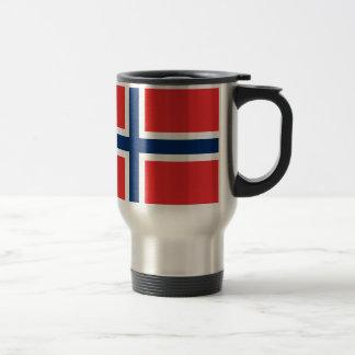 Taza noruega del viaje de la bandera