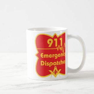 TAZA o STEIN del despachador de 911 albañiles