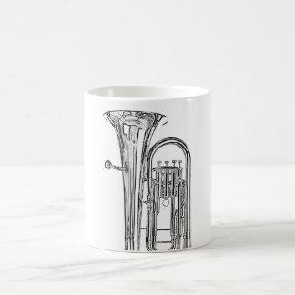 Taza o Stein del músico del Sousaphone de la tuba