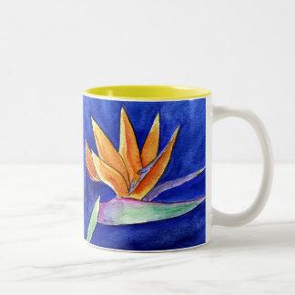 Taza o taza de la pintura del arte de la flor de l