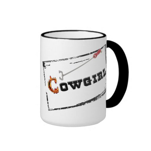"""Taza occidental de la taza de café de la """"vaquera"""