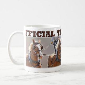 Taza oficial belga del Teamster del caballo de