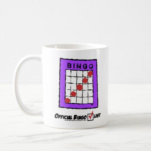 ¡Taza oficial de la lista de control del bingo! Taza Clásica