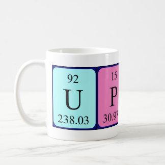 Taza optimista de la frase de la tabla periódica