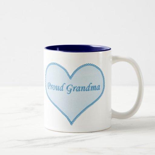 Taza orgullosa de la abuela, azul