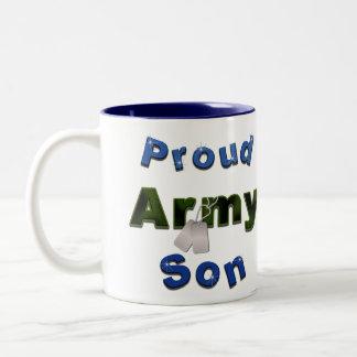 Taza orgullosa del hijo del ejército