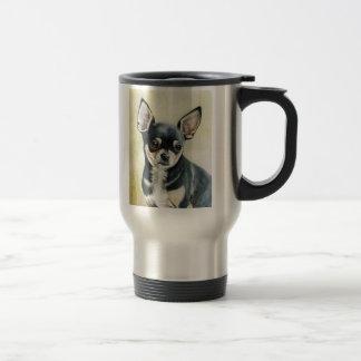 Taza original del viaje del arte del perro de la c