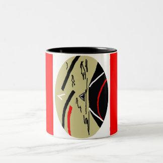 Taza oval abstracta del arte