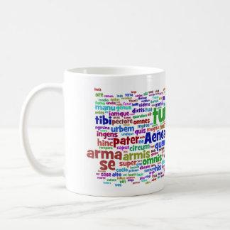 taza: palabras principales del aeneid 300 taza básica blanca