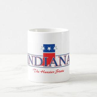 Taza patriótica de Indiana