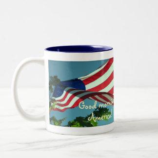 Taza patriótica de la bebida de Good Morning Ameri