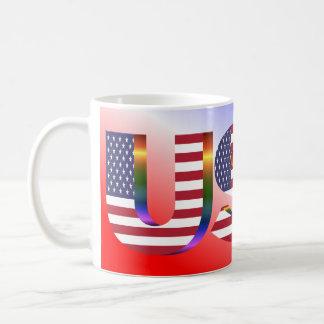 Taza patriótica de los E.E.U.U.