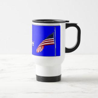 Taza patriótica la termal de las gracias