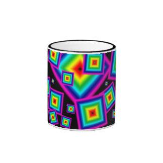 Taza Pattern01 del arco iris de TrashcanLou