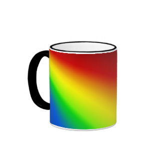 Taza Pattern15 del arco iris de TrashcanLou