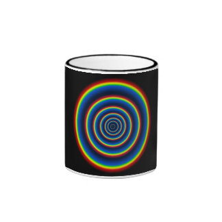 Taza Pattern16 del arco iris de TrashcanLou