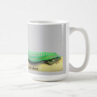 Taza perezosa del Gecko del día