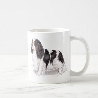 Taza: Perro de aguas de rey Charles arrogante tric Taza Básica Blanca