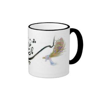 Taza persa de la caligrafía de Hafez