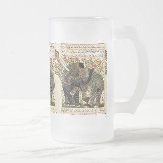 Taza persa de los elefantes