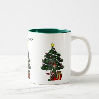 Taza personalizada árbol de navidad del día de fie