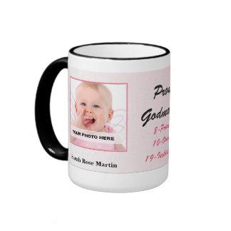 Taza personalizada bebé orgulloso de la madrina nu