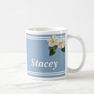 Taza personalizada de la flor