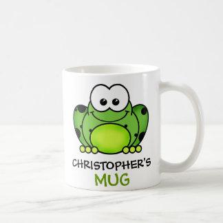 Taza personalizada de la rana