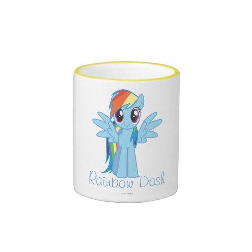 Taza personalizada de la rociada del arco iris