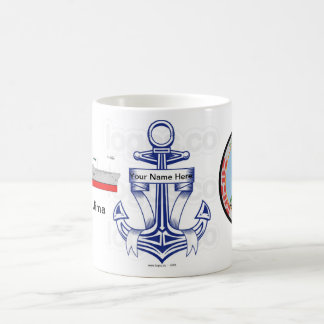 Taza personalizada de USSIwo Jima Coffe de la