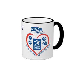 Taza personalizada del corazón de EPW