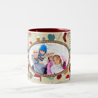 Taza personalizada del navidad con la foto