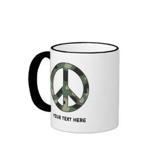Taza personalizada del signo de la paz del
