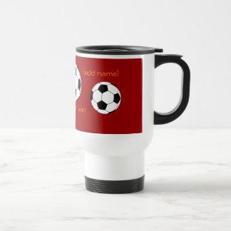 Taza personalizada del viaje del fútbol