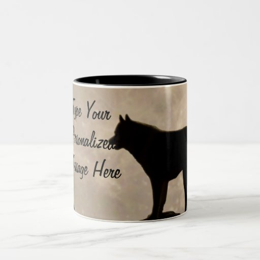 Taza personalizada fornida del perro de trineo de