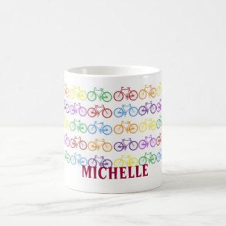 Taza personalizada nombre del ciclista de la bicic