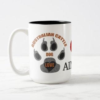 Taza personalizada raza australiana del perro del
