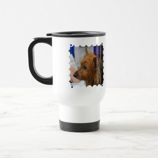 Taza plástica australiana del viaje de Terrier
