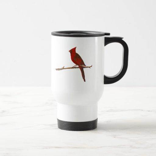 "Taza plástica ""cardinal"" masculina del viaje"