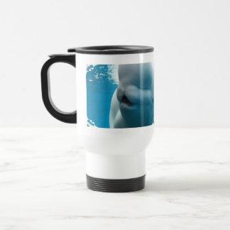 Taza plástica del viaje de la ballena de la beluga